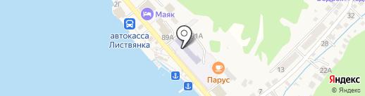 Средняя общеобразовательная школа на карте Листвянки