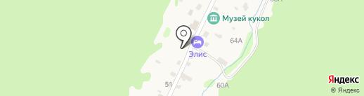 Мандарин на карте Листвянки