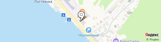 Байкальский прибой на карте Листвянки