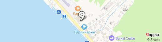 Аттракционы на карте Листвянки