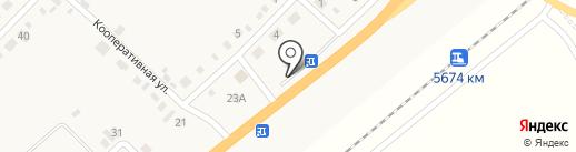 Придорожный на карте Вознесеновки