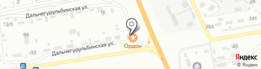 Ордон на карте Улан-Удэ