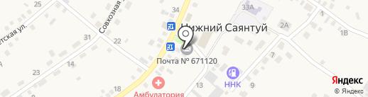 Почтовое отделение на карте Нижнего Саянтуя