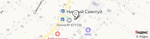 Участковый пункт полиции на карте Нижнего Саянтуя