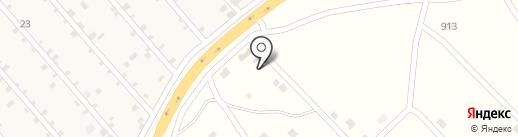 Арбуз на карте Нижнего Саянтуя