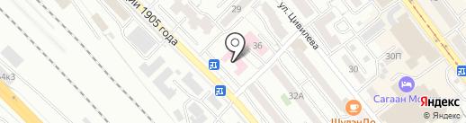 Отделенческая клиническая больница на карте Улан-Удэ