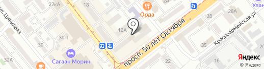 Фортуна на карте Улан-Удэ