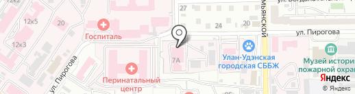Бурятская республиканская станция переливания крови на карте Улан-Удэ