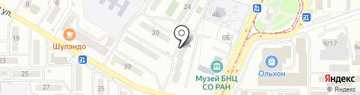 Василёк на карте Улан-Удэ