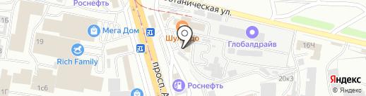 Фейерверки 03 на карте Улан-Удэ