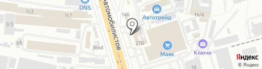 АвтоСфера03 на карте Улан-Удэ