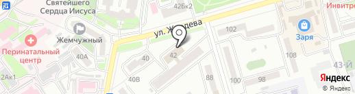 Цех полуфабрикатов на карте Улан-Удэ