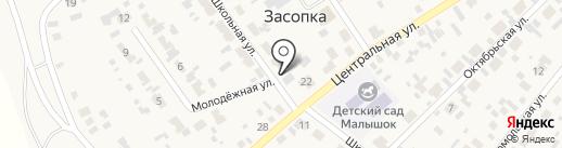 Елена на карте Засопки