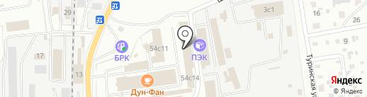 Магазин ковров и мягкой мебели на карте Читы