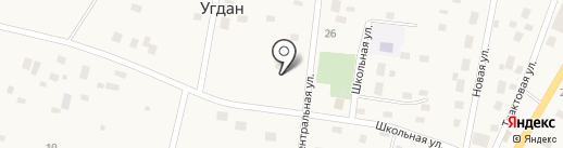 Фельдшерско-акушерский пункт на карте Угдана