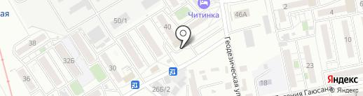 Амурский на карте Читы