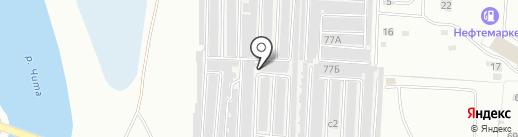 Гаражно-строительный кооператив №10 на карте Читы