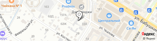 Магазин мебели и ковров на карте Читы