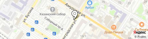 Ленинградский на карте Читы
