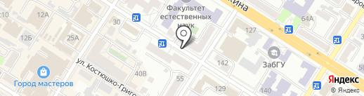 Подземная автостоянка на карте Читы