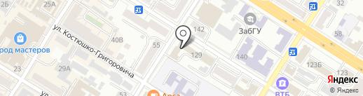 Додонов В.И. на карте Читы