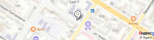 Забайкальский государственный университет на карте Читы