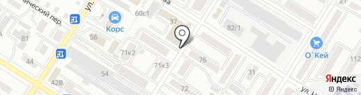 Каскад на карте Читы