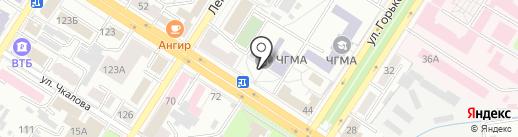 Читинская государственная медицинская академия на карте Читы