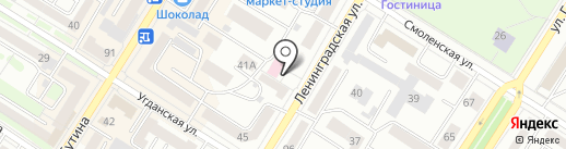 Городская поликлиника №4 на карте Читы