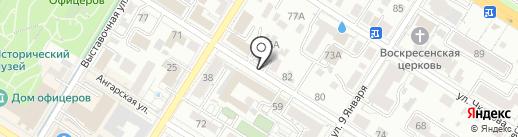 Денис и Олег на карте Читы
