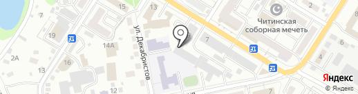 Отдел Военного комиссариата Забайкальского края по г. Чита на карте Читы