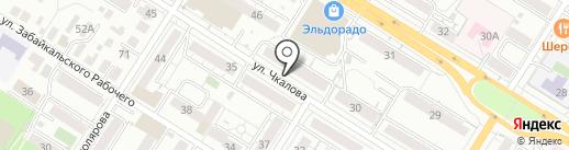 Динамо-крепеж на карте Читы
