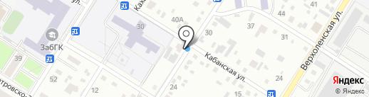 Юлия на карте Читы