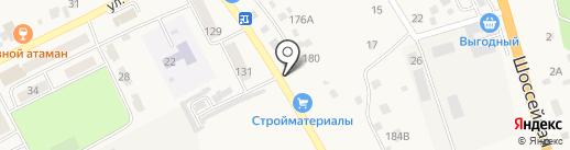 Агинское на карте Атамановки