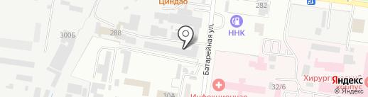 Автодруг на карте Благовещенска