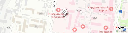Амурская областная инфекционная больница на карте Благовещенска