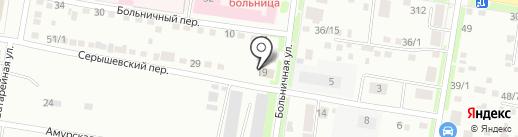Колибри на карте Благовещенска
