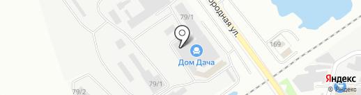 Дом Дача на карте Благовещенска