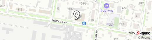 Буреягэсстрой на карте Благовещенска