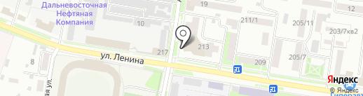 Магазин спортивной одежды и обуви на карте Благовещенска