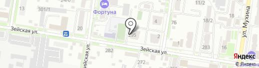 Инвест-ДВ на карте Благовещенска