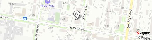 Талаканский на карте Благовещенска