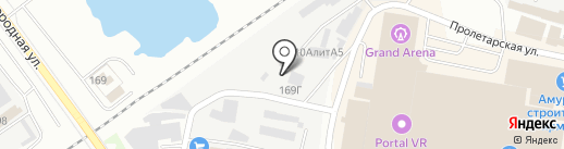 Дизайн авто на карте Благовещенска