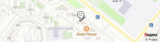 Парадиз на карте Благовещенска