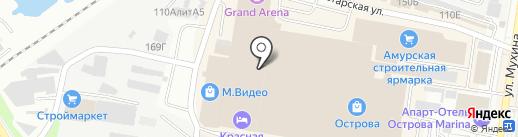 Венская на карте Благовещенска