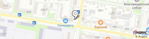 Обжорка на карте Благовещенска