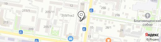 Домашний на карте Благовещенска