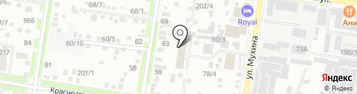 АРМ на карте Благовещенска