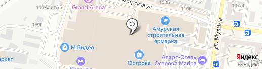 Амурская областная общественная спортивная организация тенниса и бадминтона на карте Благовещенска