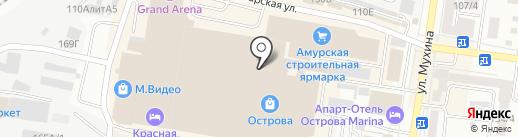 Магазин фигурной сладкой ваты на карте Благовещенска